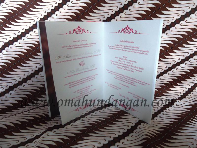 hardcover putih pink 3 Undangan hardcover putih pita pink [HC 26]