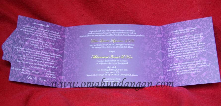 isi undangan ungu Undangan Pernikahan Ungu Elegan klasik [SC 32]