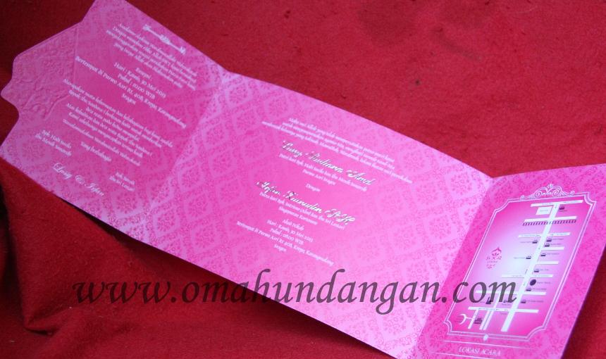 undangan ornamen pink Undangan pink gunungan [SC 38]