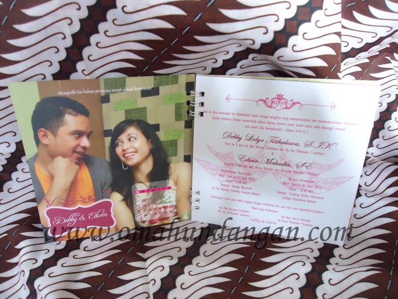 undangan pernikahan pink Undangan kalender 2014 spiral magenta [SC 40]