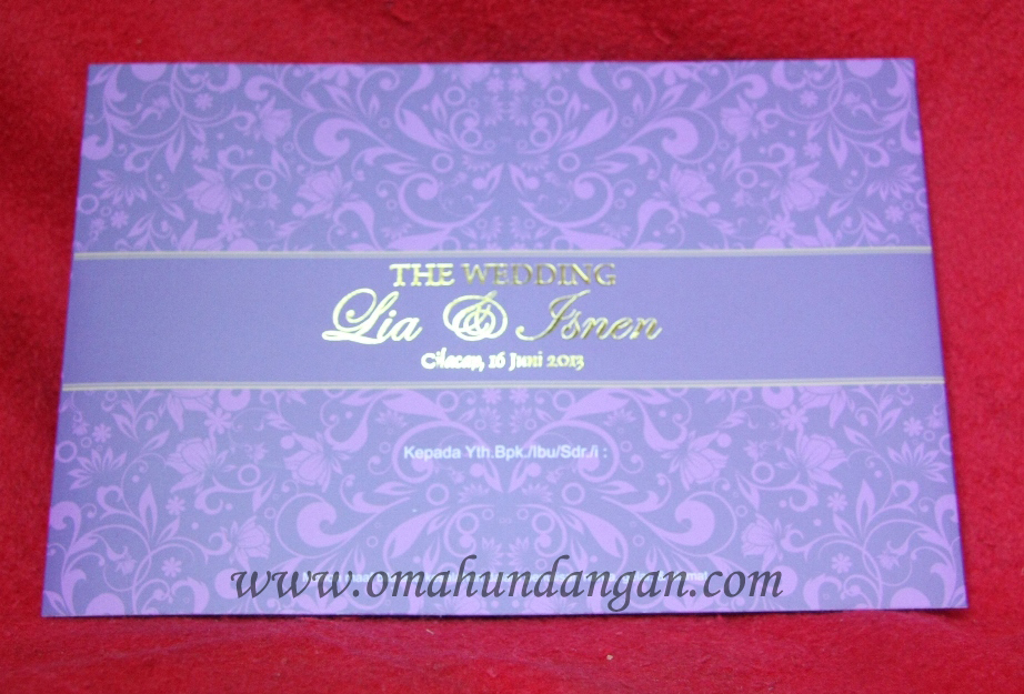 undangan ungu mewah Undangan Pernikahan Ungu Elegan klasik [SC 32]