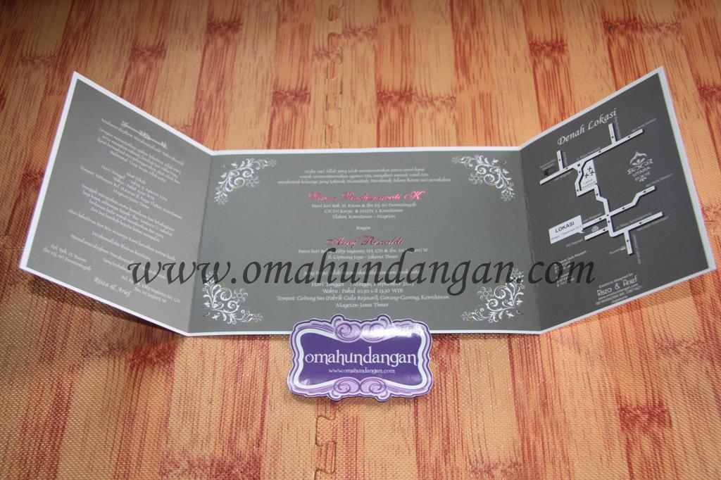 undangan abu abu pastel Undangan Pink Pastel siluet [SC 43]