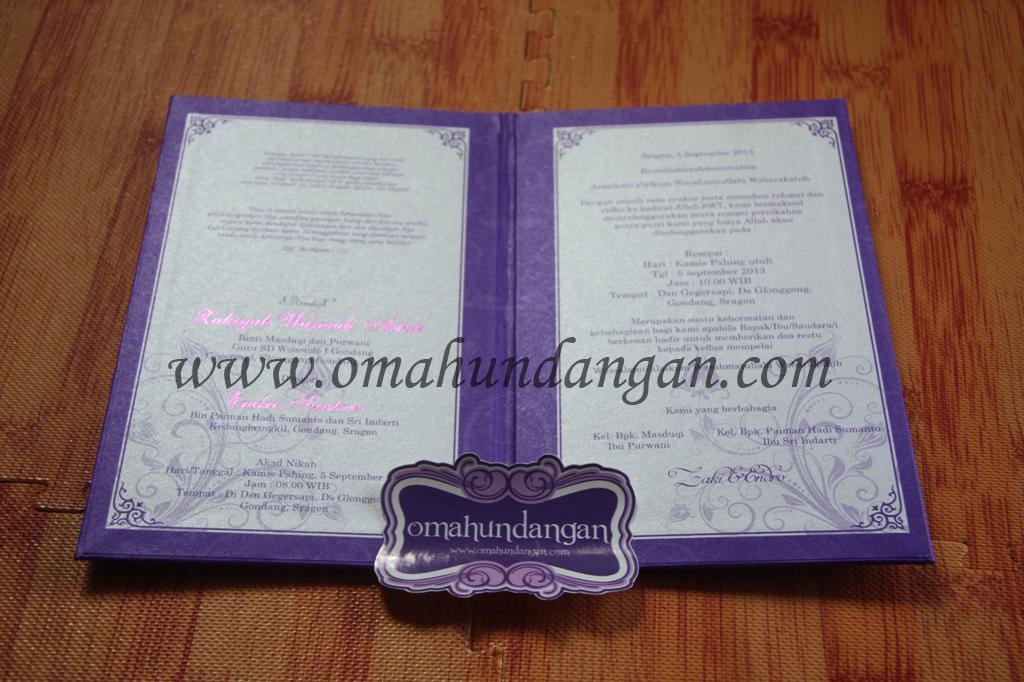 undangan hardcover isi Undangan hardcover ungu klasik [HC 27]