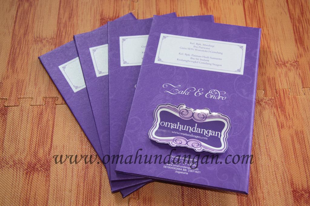 ungu hardcover undangan Undangan hardcover ungu klasik [HC 27]