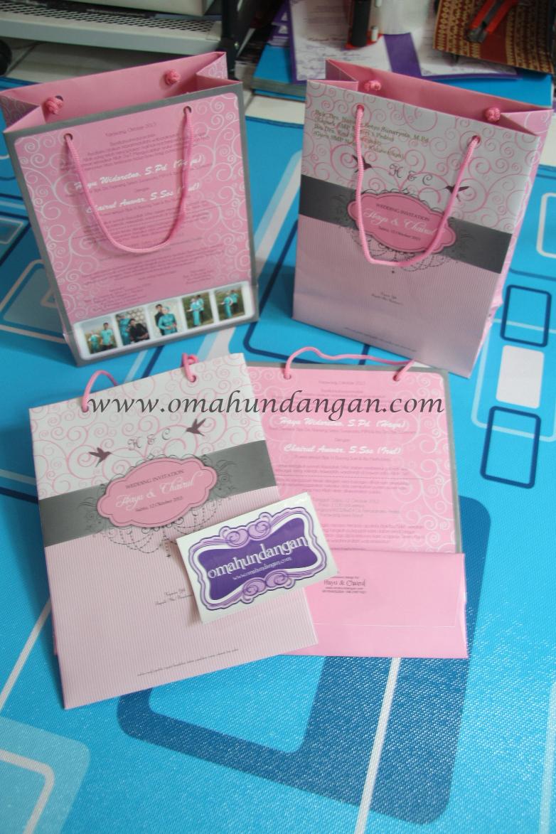 undangan bagpaper Undangan paperbag pastel [UU 09]