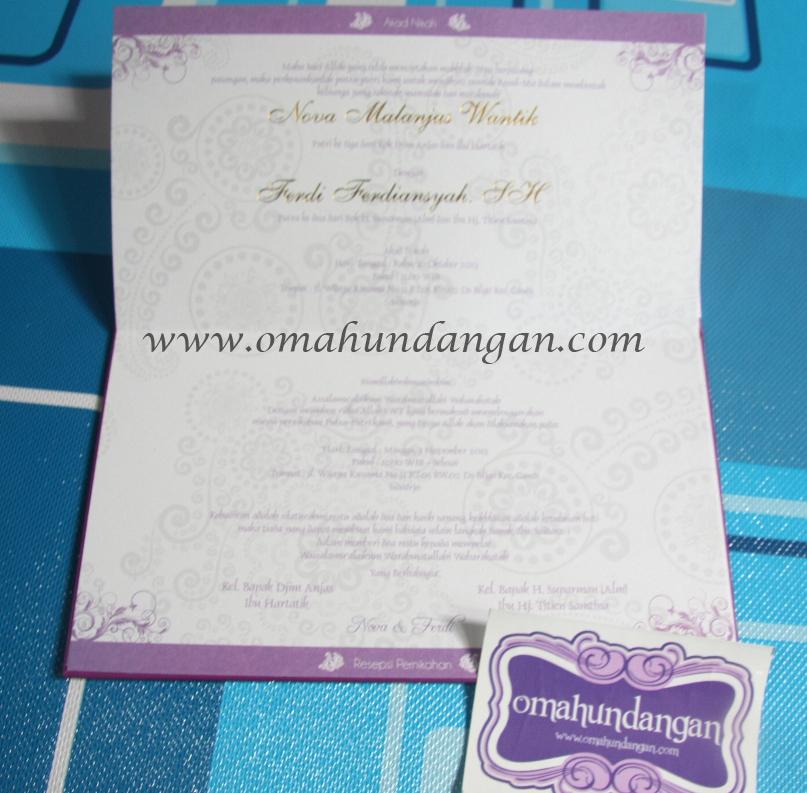 undangan elegan ungu hardcover Undangan hardcover ungu pita [HC 29]