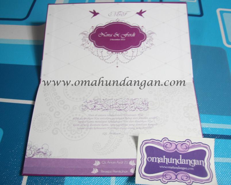 undangan ungu Undangan hardcover ungu pita [HC 29]