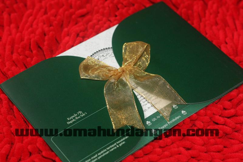 undangan hijau pita Undangan hijau elegan [sc 58]