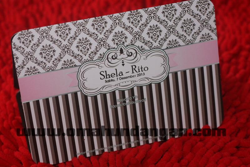 undangan lucu pink Undangan pernikahan pink cantik [sc 59]