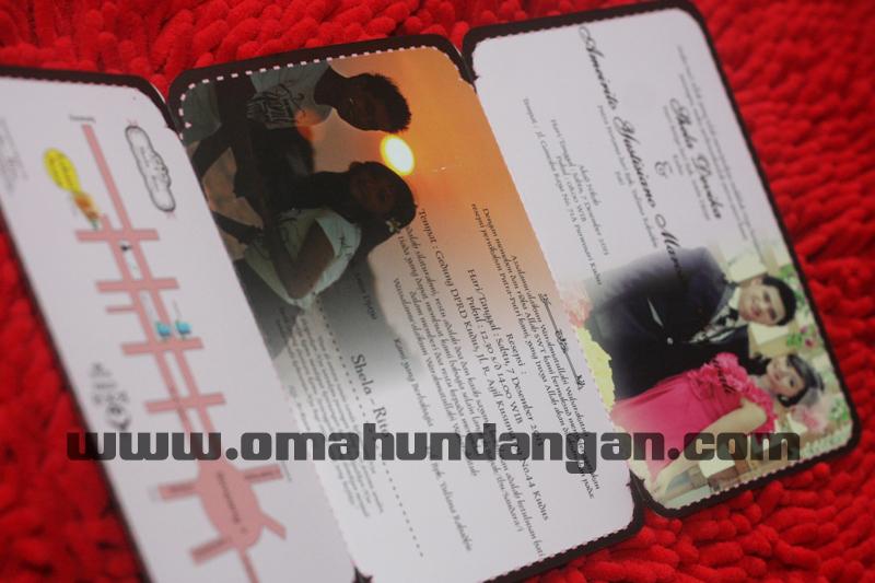 undangan pernikahan pink lucu Undangan pernikahan pink cantik [sc 59]
