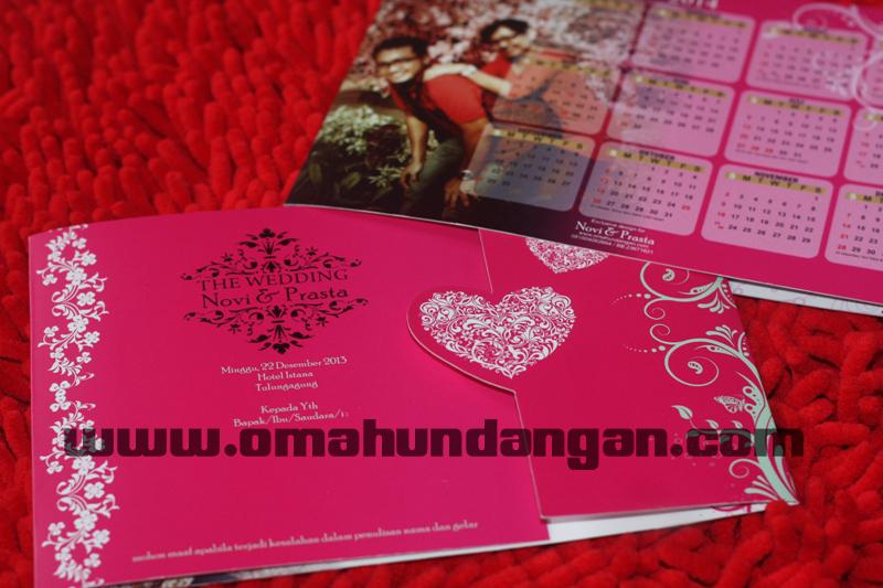 undangan pink love kalender Undangan pink love kalender [sc 57]