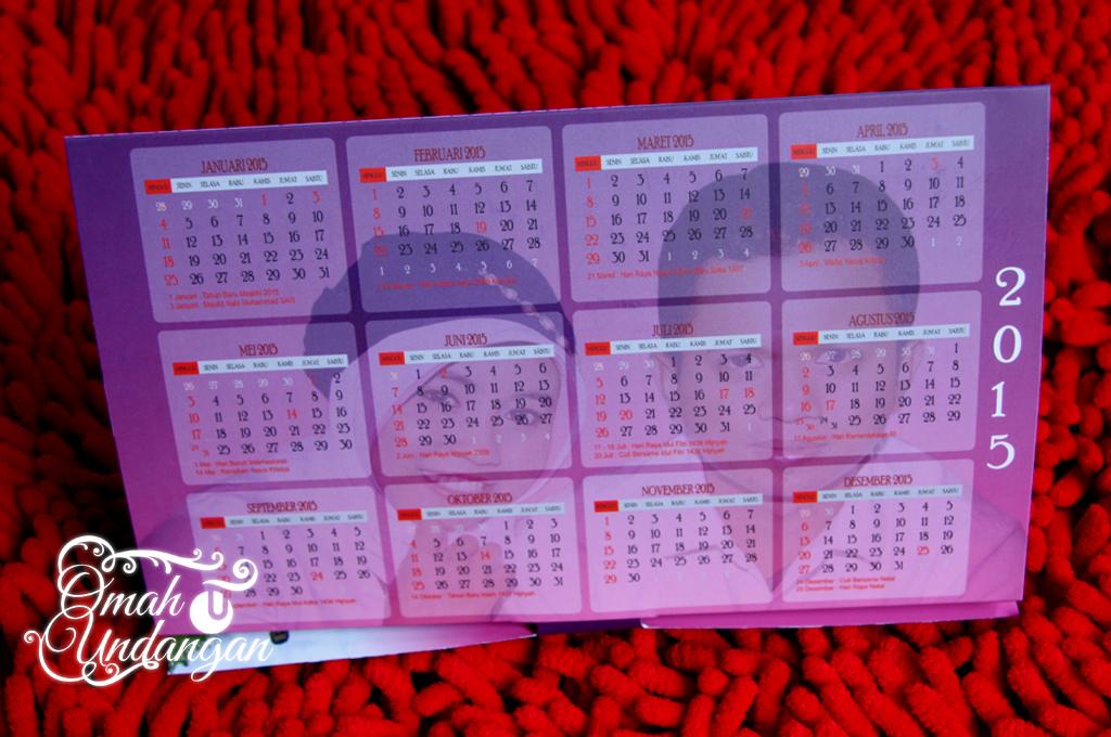 kalender duduk Undangan pink kalender [SC 61]