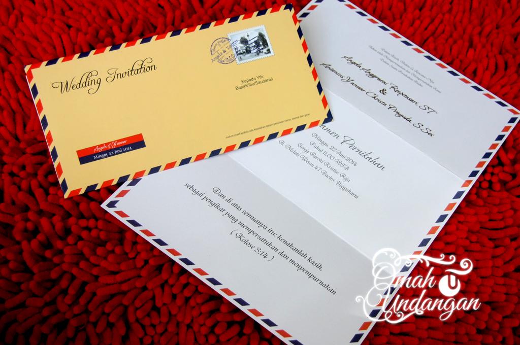 undangan airmail dengan isi Undangan softcover Airmail isi [SC 64]