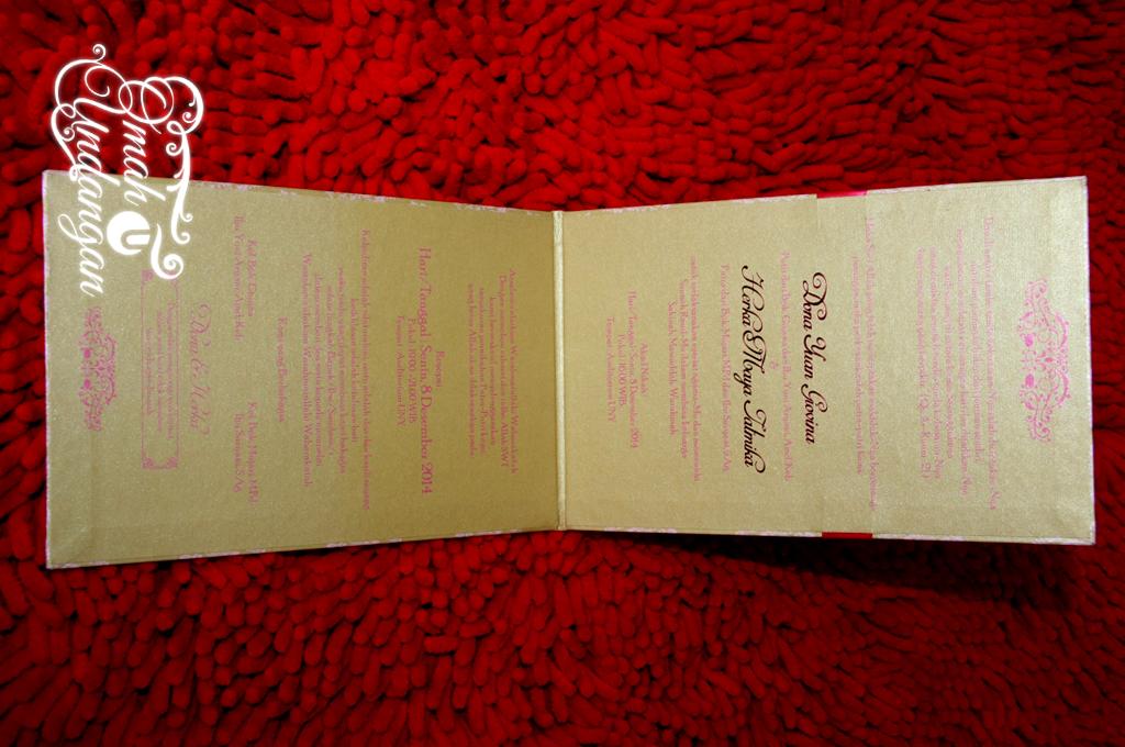 undangan gold pink Undangan Hardcover Gold pink [HC 36]