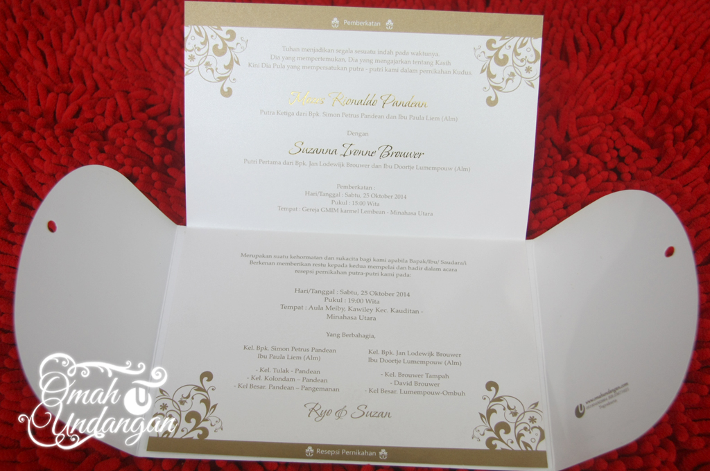 undangan gold pita Undangan Softcover Gold pita [SC 62]
