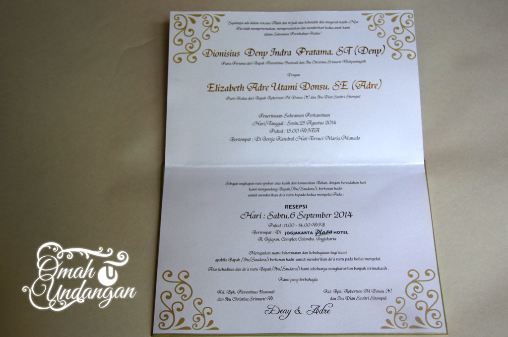 undangan hardcover gold Undangan hardcover Gold elegan [HC 31]