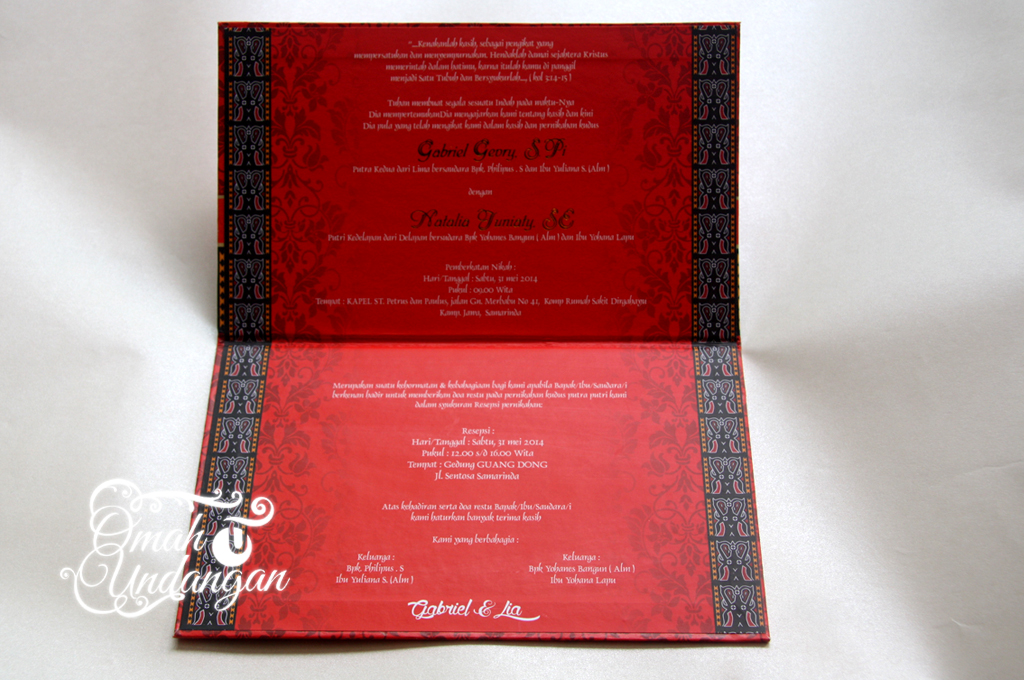 undangan hardcover merah Undangan Hardcover merah [HC 34]