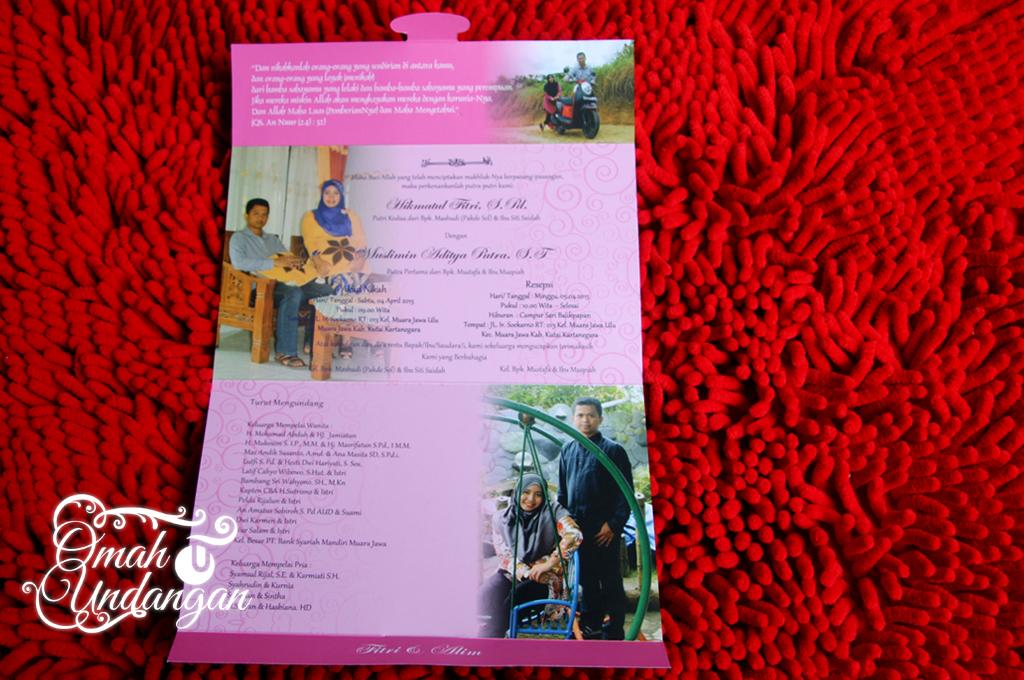 undangan kalender Undangan pink kalender [SC 61]