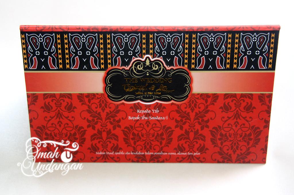 undangan merah hardcover Undangan Hardcover merah [HC 34]