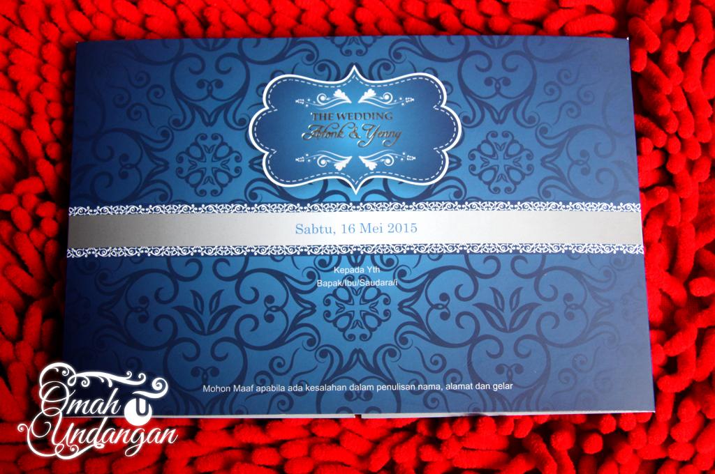 undangan model siluet2 Undangan biru siluet [SC 60]