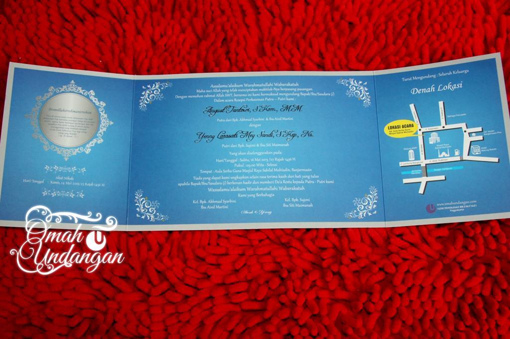 undangan pernikahan biru siluet Undangan biru siluet [SC 60]