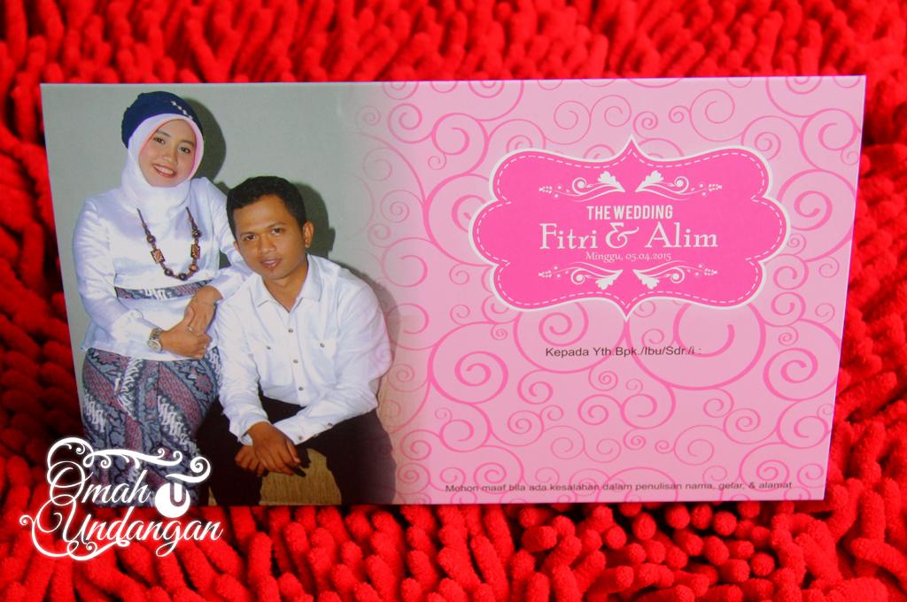 undangan pink kalender duduk Undangan pink kalender [SC 61]
